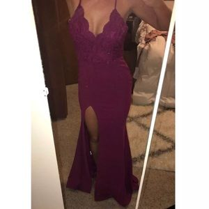 Magenta prom dress